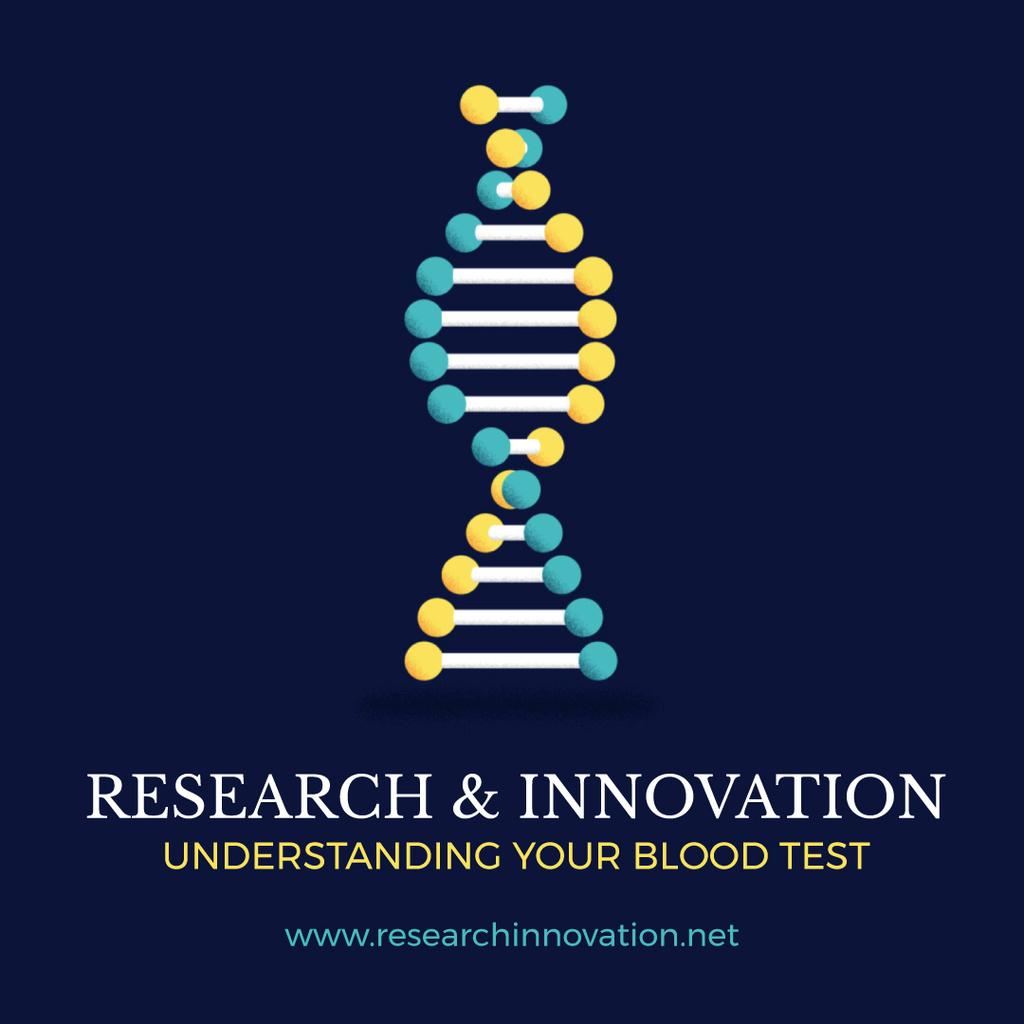 Test Laboratory Ad DNA Molecule Model — Maak een ontwerp