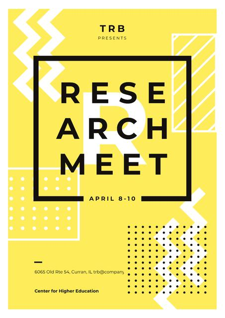 Minimalistic geometric pattern Poster – шаблон для дизайна