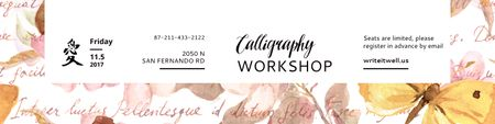 Calligraphy workshop Annoucement Twitter Modelo de Design