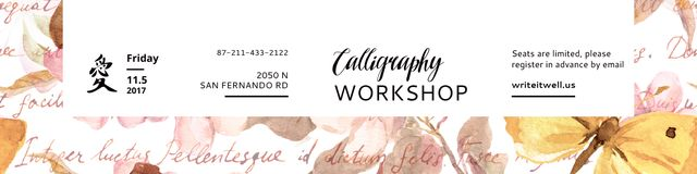 Template di design Calligraphy workshop Annoucement Twitter