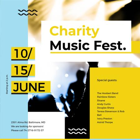 Charity Music Fest Instagramデザインテンプレート