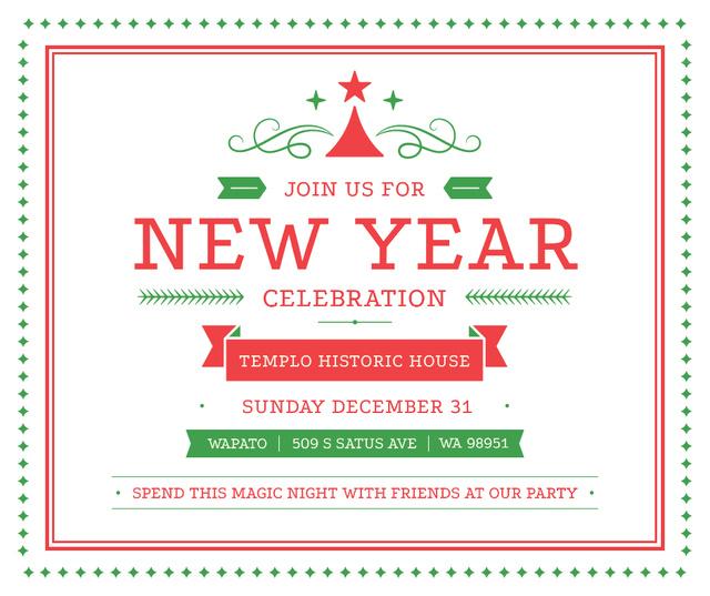 Modèle de visuel New Year celebration announcement - Facebook
