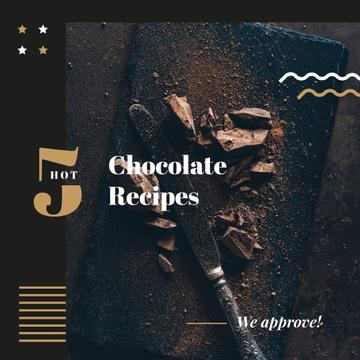 Dessert Recipes Dark Chocolate Pieces | Instagram Ad Template