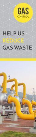 Plantilla de diseño de Gas control banner Skyscraper