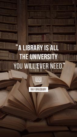 Quote about Library and education on Books Instagram Story – шаблон для дизайна