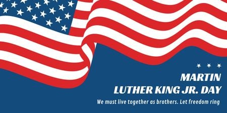 Modèle de visuel Martin Luther King day - Twitter