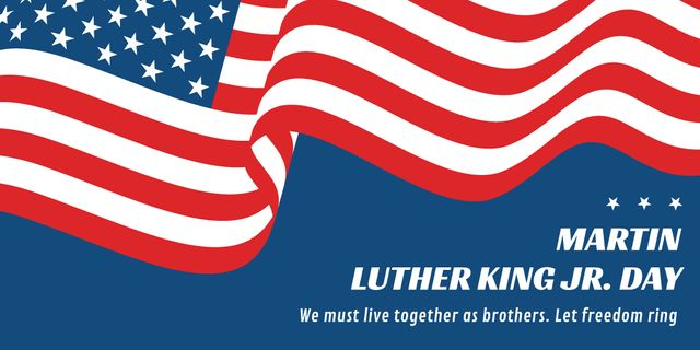 Plantilla de diseño de Martin Luther King day Twitter