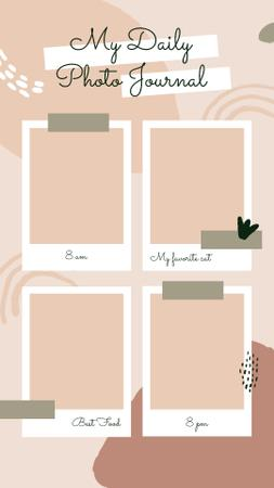 Ontwerpsjabloon van Instagram Video Story van Photo Journal on Snapshots in pink