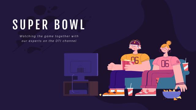 Template di design Excited Fans watching Super Bowl  Full HD video