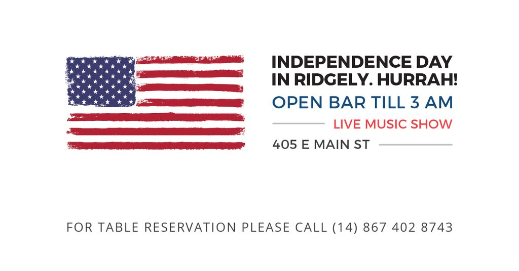 Independence day in Ridgely — Créer un visuel