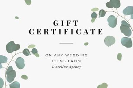 Ontwerpsjabloon van Gift Certificate van Wedding Items offer