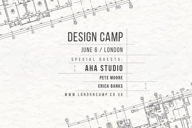 Template di design Design camp in London Gift Certificate