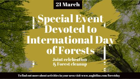 Plantilla de diseño de International Day of Forests Event Tall Trees Title