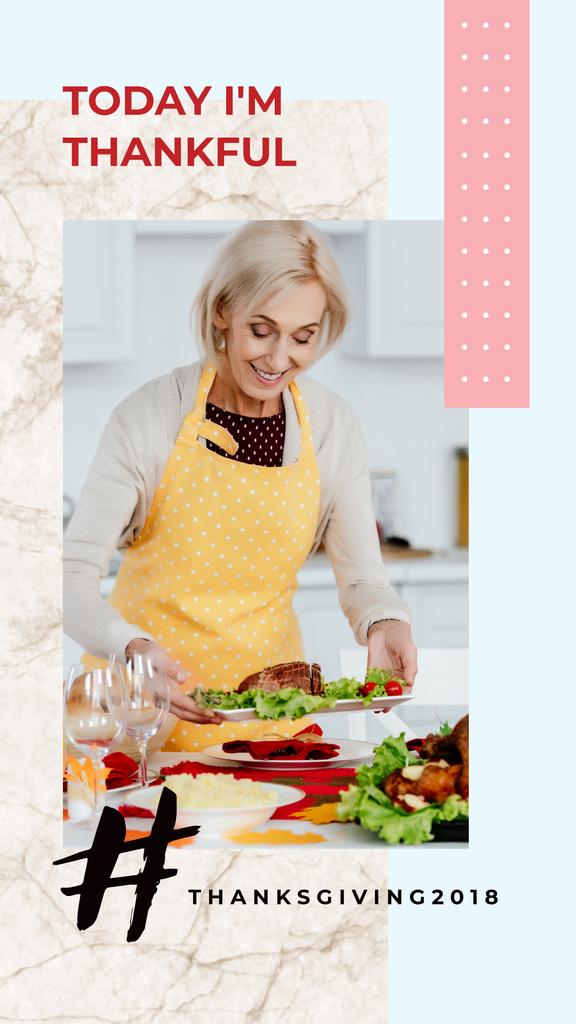 Woman preparing Thanksgiving feast  — Create a Design