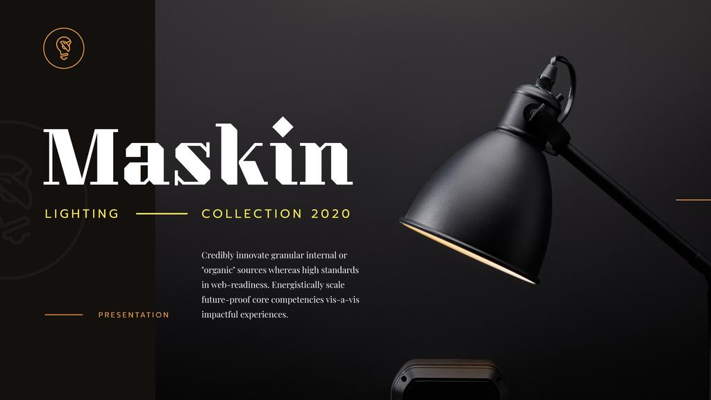 Lighting Design Collection Lamp in Black | Presentation Template — Створити дизайн