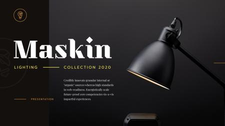 Lighting Design Collection with Lamp in Black Presentation Wide – шаблон для дизайна