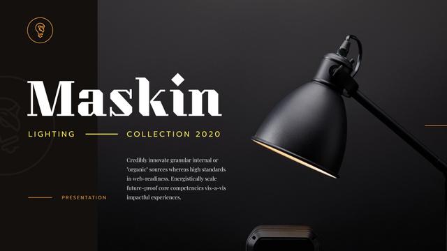 Lighting Design Collection with Lamp in Black Presentation Wide Modelo de Design