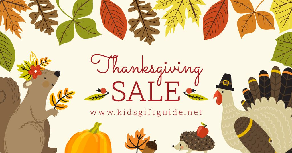 Thanksgiving sale advertisement poster — Crear un diseño