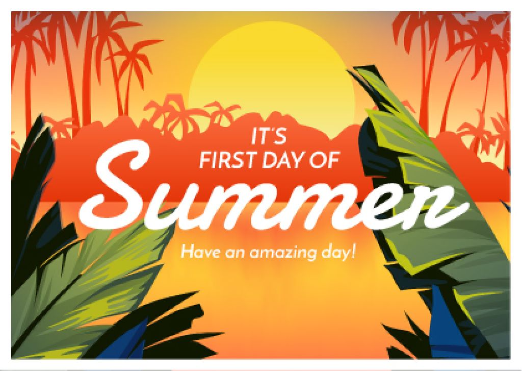 First day of summer banner — ein Design erstellen