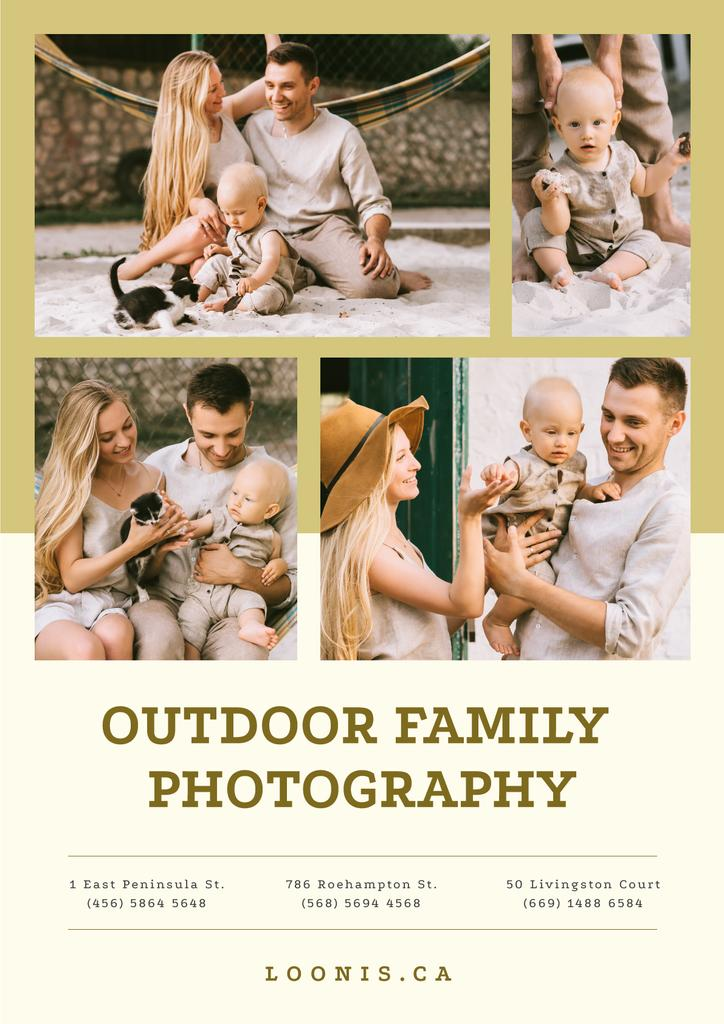 Photo Session Offer Happy Family with Baby — Modelo de projeto