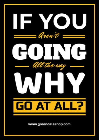Modèle de visuel Inspirational Quote in Yellow and Black - Poster