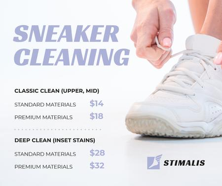 Sneaker Cleaning Service Ad in White Facebook Modelo de Design