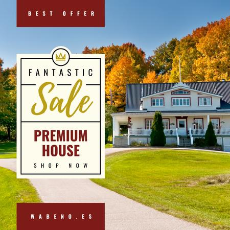 Luxury Real Estate Property Offer Instagram AD Design Template