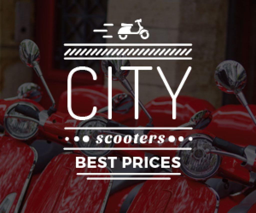 Plantilla de diseño de city scooters store poster Medium Rectangle