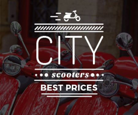 city scooters store poster Medium Rectangle Modelo de Design