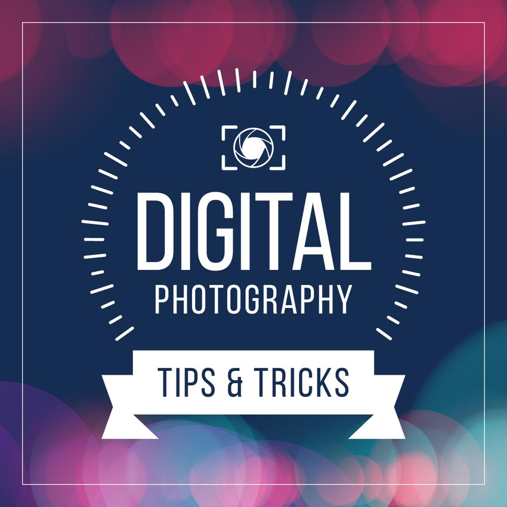 Digital photography tips and tricks poster — Crear un diseño