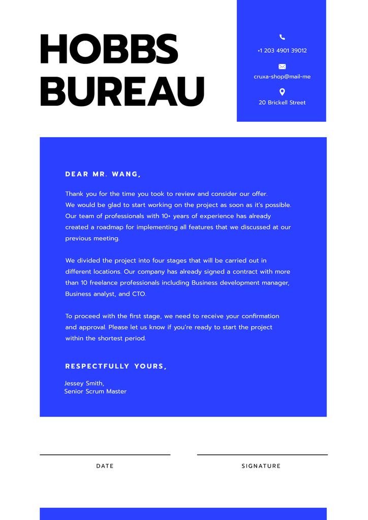 Business Company official request Letterhead Πρότυπο σχεδίασης