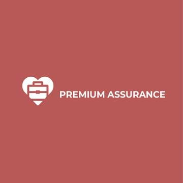Assurance Business Ad Briefcase in Heart | Logo Template
