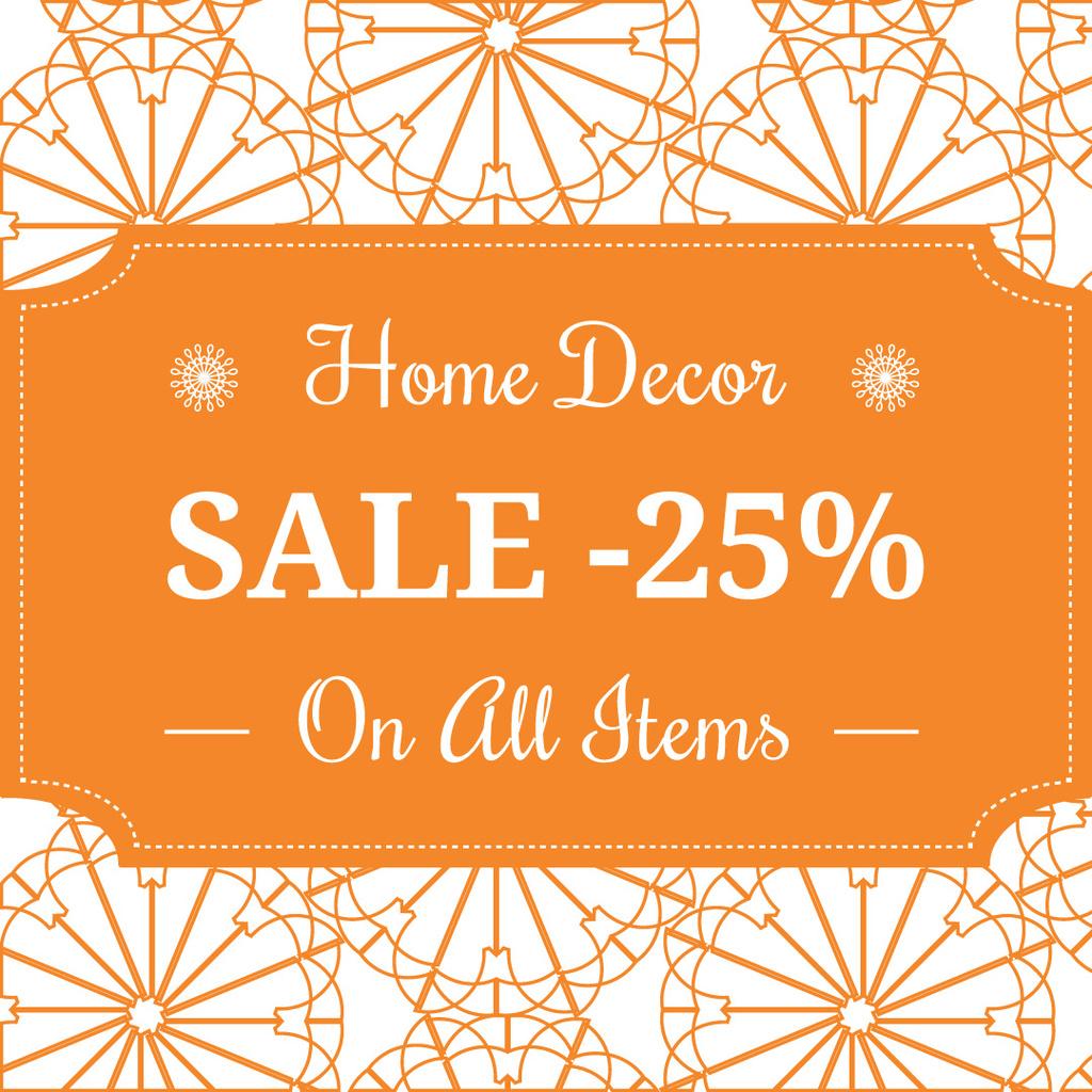 Ontwerpsjabloon van Instagram van Home decor Sale Advertisement