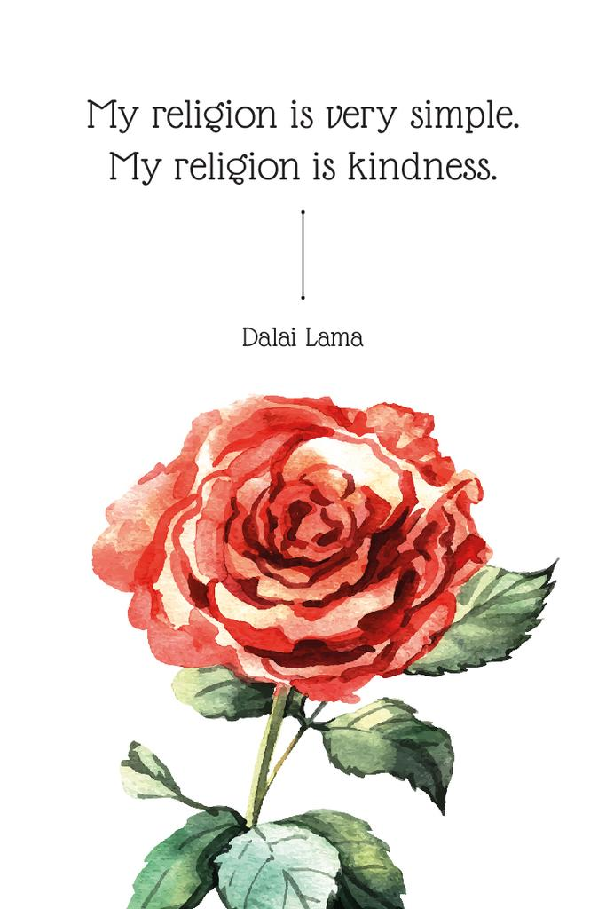 Citation about very simple religion — ein Design erstellen