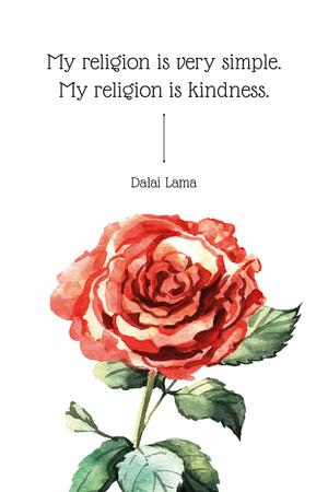 Plantilla de diseño de Citation about very simple religion Pinterest