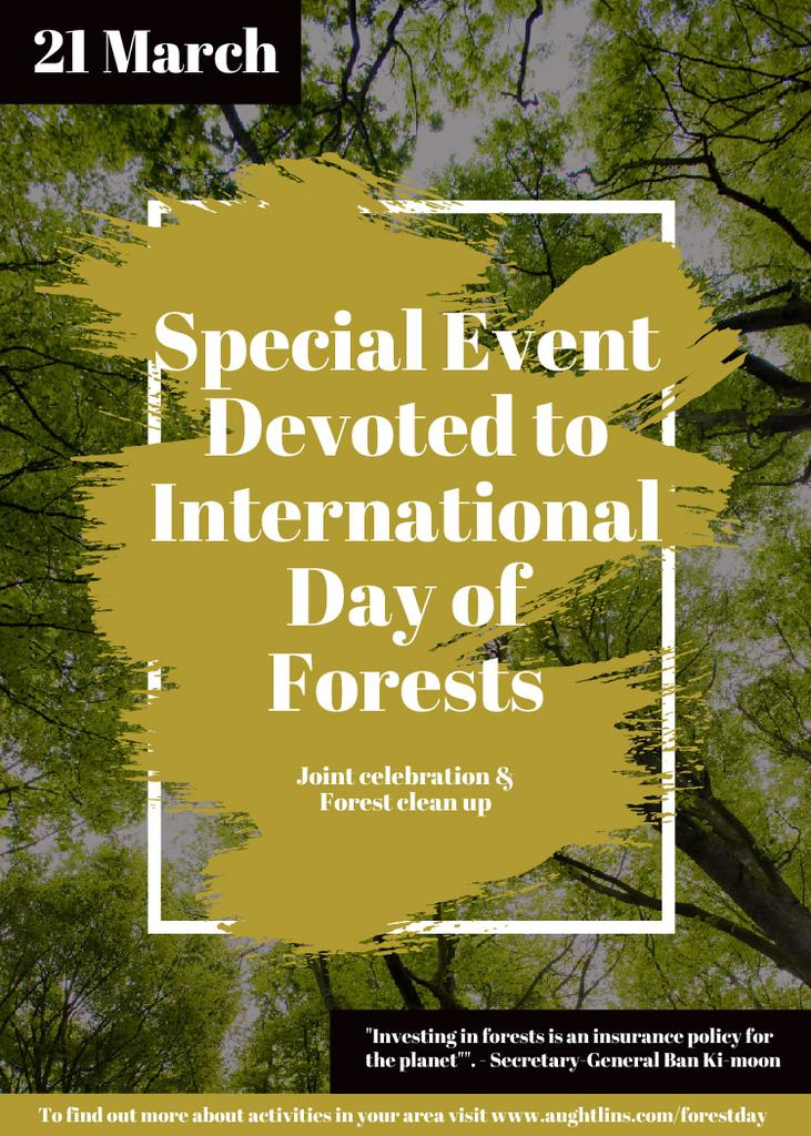 Special Event devoted to International Day of Forests — Maak een ontwerp