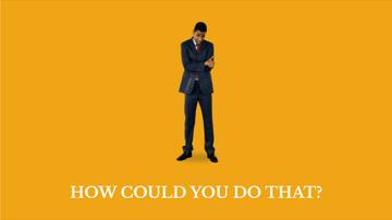 Discouraged African-American Businessman in Yellow | Full Hd Video Template