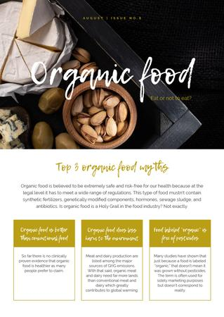 Top Organic Food Myths Newsletter Modelo de Design