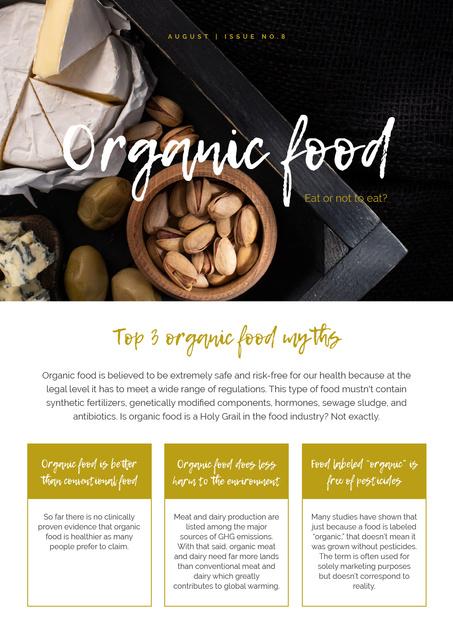 Top Organic Food Myths Newsletter Modelo de Design