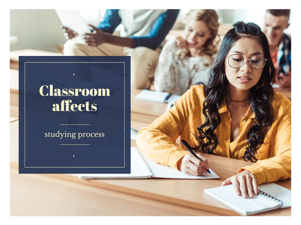 Classroom affects studying process — Создать дизайн