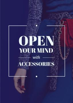 Accessories Quote Stylish Woman in Blue | Poster Template