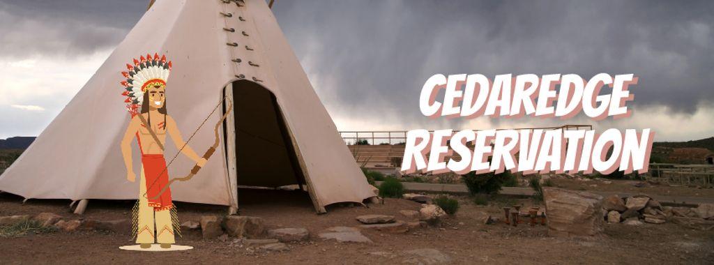 Native American shooting with arrow — Create a Design
