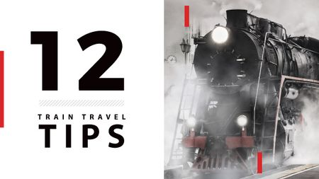 Travel tips with Old Steam Train Title Modelo de Design