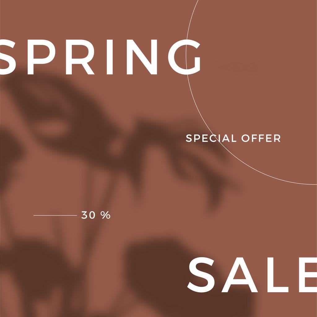 Ontwerpsjabloon van Instagram van Spring Sale Special Offer with Shadow of Flower