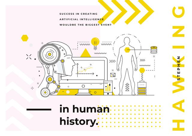 Developing robotic technology Postcard – шаблон для дизайна