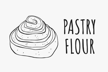 Pastry ad with tasty Bun