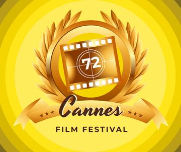 Cannes Film Festival golden frame