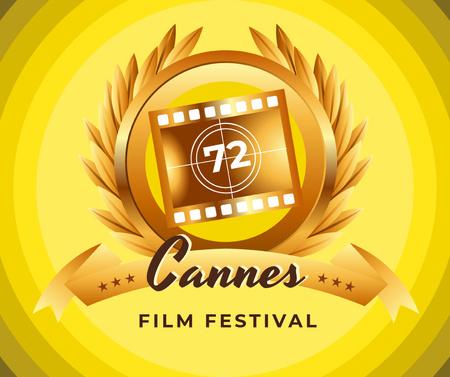 Ontwerpsjabloon van Facebook van Cannes Film Festival golden frame