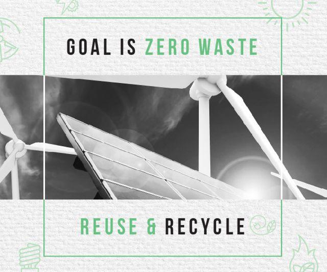 Ontwerpsjabloon van Medium Rectangle van Concept of Conserve energy for goal