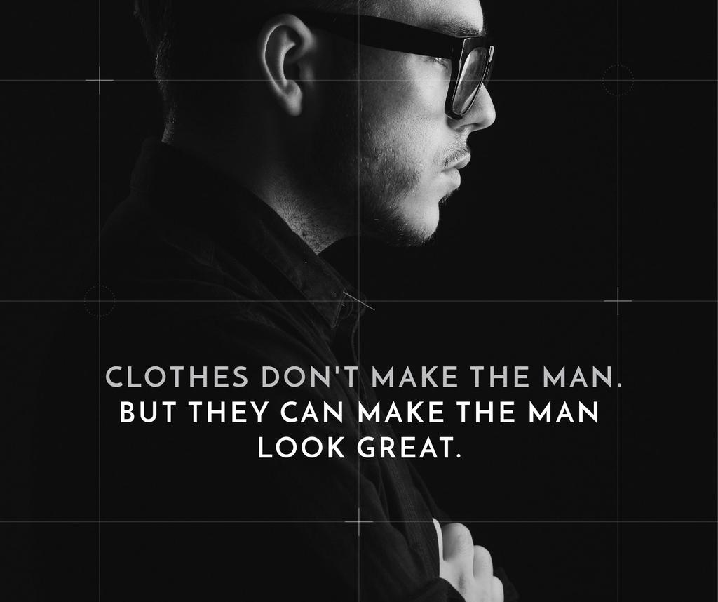 Citation about a man clothes — Створити дизайн